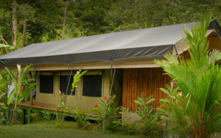 1.2 ACRES – Tropical River Lodge With 9 Tent Villas, 3 Rooms For Rent Plus Main House And Amazing Waterfall!!!!