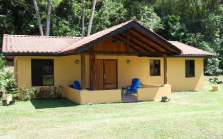 2 ACRES – 2 Bedroom Home On Beautiful Flat Property With Room For Cabinas! Rivers,Creeks,Waterfalls