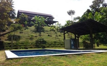 3.8 ACRES – 3 Bedroom Home, 4 Guest Cabinas, Restaurant and Pool!!!