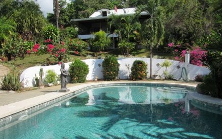 6.42 ACRES – 3 Bedroom BnB Plus Separate Cabina, Pool, Huge Sunset Ocean View, And Room To Expand!!!!