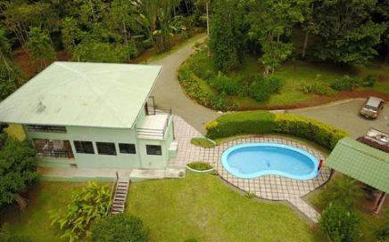 10.77 ACRES – 2 Bedr. Home w/Pool Plus 1 Bedr. Guest House w/Amazing Mountain View & Ocean Window!!!