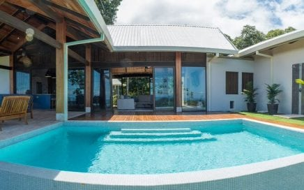 1.73 ACRES –  4 Bedroom Modern Tropical Ocean View Home With Incredible Whales Tail Ocean Views!!!