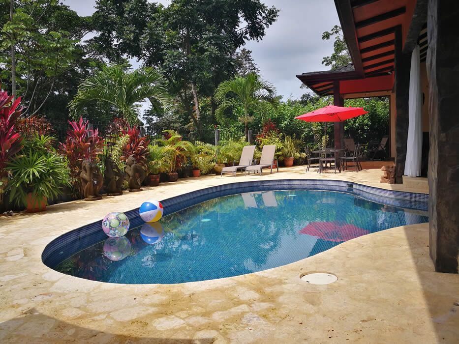 1.6 ACRES - 3 Bedroom Bali Style Home With Pool And Great Access Plus Caretaker's House!!
