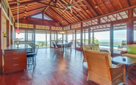 7.58 ACRES – 3 Bedroom Bali Style Compound With Ocean View And Pool!!!