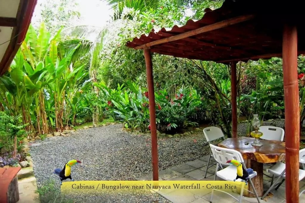 TWO BEDROOM BUNGALOW IN A BEAUTIFUL GARDEN WITH COVERED OUTDOOR DINING!!!
