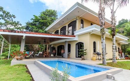 5.25 ACRES – 4 Bedroom Manuel Antonio Sunset Ocean View Home With Pool In The Hills Of Portalon!!!!