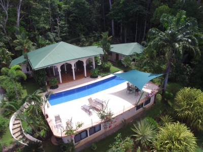 1.75 ACRES - 4 Bedroom Ocean View Home With Pool Surrounded By Jungle!!!
