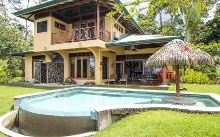 0.8 ACRE – Finely Crafted Luxury Home With Cabin Above Uvita's Whale's Tale!!!!