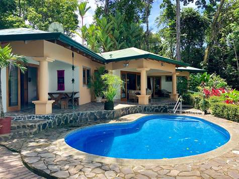 3.34 ACRES - 2 Bedroom Ocean View Home With Pool And Great Access Surrounded By Jungle!!!