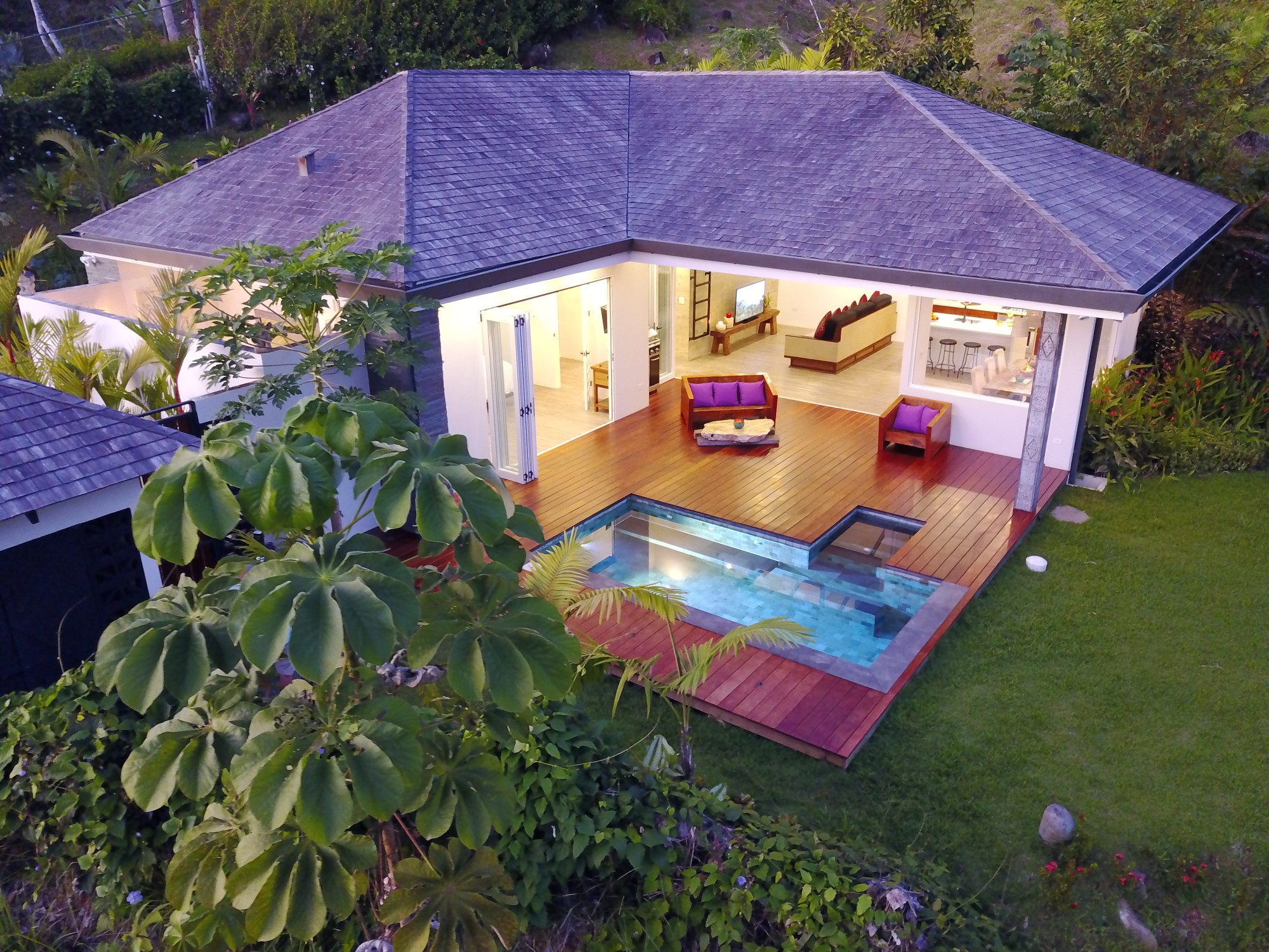 0.28 ACRES - 2 Bedroom Modern Bali Home With Pool And Ocean View!!