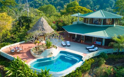 8.78 ACRES – 3 Bedroom Sunset Ocean View Home With Pool In Beautiful Jungle Setting!!!