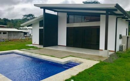 0.22 ACRES – 2 Bedroom Brand New Modern Home With Pool In Center Of Uvita!!!