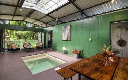 0.125 ACRES – 2 Bedroom Brand New Container Home With Saltwater Plunge Pool!!!