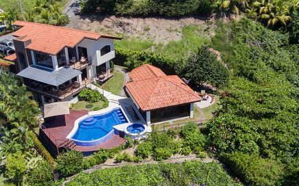 0.17 ACRES – 5 Bedroom Ocean View Home With Pool And Incredible Ocean View In Punta Leona Gated Community!!!