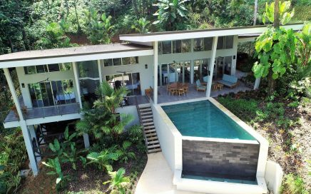 2.7 ACRES – 3 Bedroom Modern Tropical Ocean View Home With Infinity Pool In Small Gated Community!!!