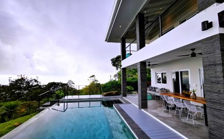 0.96 ACRES – 4 Bedroom Modern Bali Influenced Home W/Pool Epic Whales Tail Ocean View!!!