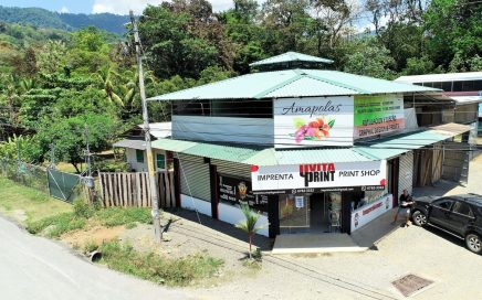 0.64 ACRES – Profitable Retail Commercial Building In The Center Of Uvita!!!