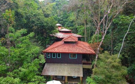13.5 ACRES – 7 Bedroom Bali Style Estate Built On River With Multiple Waterfalls, Perfect For BnB Or Boutique Hotel!!!!!