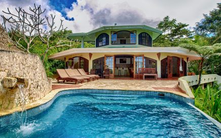 8.8 ACRES, 3-Bedroom Tropical Ocean View With Pool In Fabulous Rainforest Setting