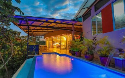 1.33 ACRES – 3 Bedroom Modern Funky Home W/ Pool In Gated Development With Great Mountain Views!!!!