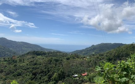 3.6 ACRES – Ocean View Farmland In The Hills Above Uvita, Legal Water And Power!!!