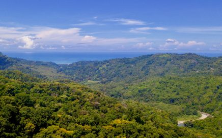 50 ACRES – Beautiful Ocean River And Mountain Views,4 Building Sites Water Concession And Electricity, No Restrictions, 25 Minutes to Dominical!!!