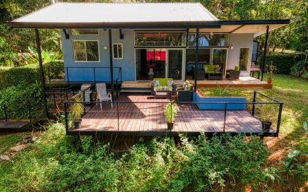 5.34 ACRES – 2 Bedroom Modern Home W Plunge Pool, Ocean View, Rainforest, Second Building Site!!!!