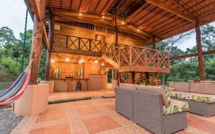 CORAZÓN DEL RIO – 5 Bedroom, 4 Bathroom Nature Villa Near River And Waterfall With Stream In The Living Room  And Yoga Deck!!!