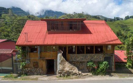 0.74 ACRES – Iconic Lodge With 7 Rooms, Bar, Restaurant, Owner's Home On Rio Chirripo At Base Of Chirrpio Mountain!!!!